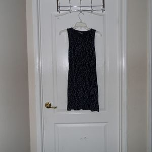 Dresses & Skirts - USED Navy Blue White Flower Sleeveless Dress